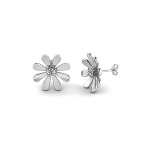Daisy Diamond Stud Earring