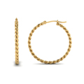 rope hoop earring for women in 14K yellow gold FDEAR1100 NL YG