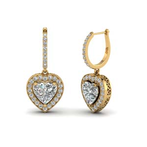 Heart Halo Drop Dangle Earring