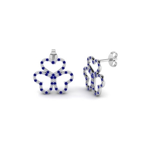 Flower Pattern Stud Earring