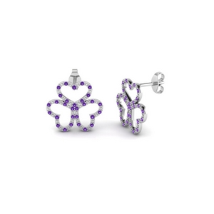 Purple Topaz Earring For Women