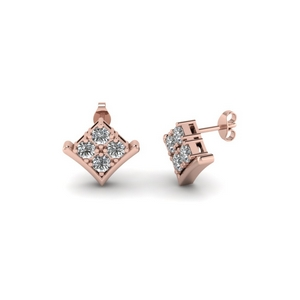 Kite Style Diamond Earring