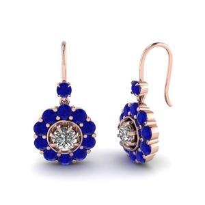 floral-diamond-dangle-earring-with-sapphire-in-FDEAR1128GSABL-NL-RG
