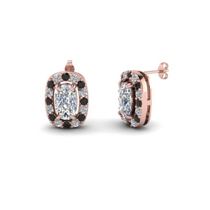 Round And Cushion Cut Stud Earring