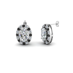 Classic Black Diamond Earring