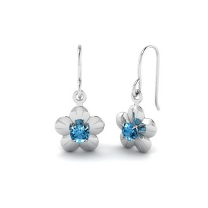 Platinum Blue Topaz Earring