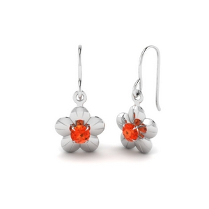 Drop Orange Topaz Earring