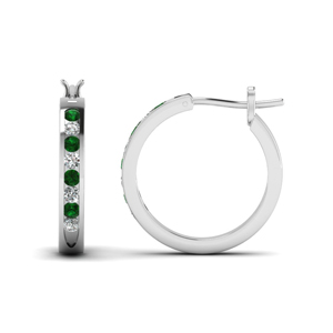 Small Hoop Earring 18K White Gold