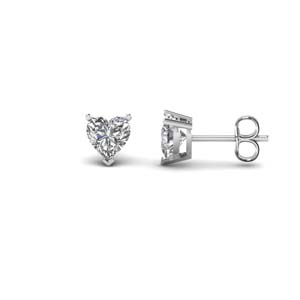 1 carat heart diamond stud earring in 14K white gold FDEAR3HT0.50CT NL WG