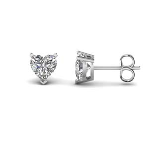 3 Ct. Heart Single Stud Earring