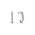 round cut diamod hoops earrings in 14K white gold FDEAR40640 NL WG