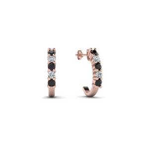 half-huggie-black-diamond-hoop-earring-in-14K-rose-gold-FDEAR40640GBLACK-NL-RG