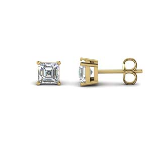 Asscher Cut Diamond Earring 2 Carat