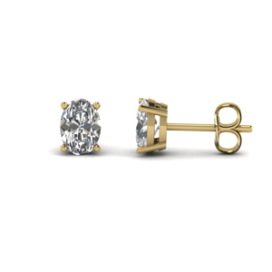 Oval Shaped Stud Earring 3 Carat