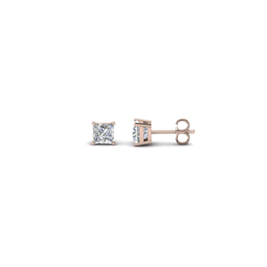 0.34 Ct. Princess Cut Stud Earring