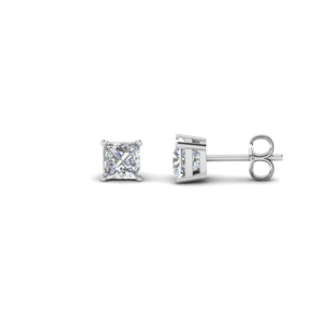 3/4 Ct. Princess Cut Diamond Earring