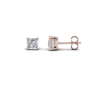 1.5 Carat Princess Cut Stud Earring