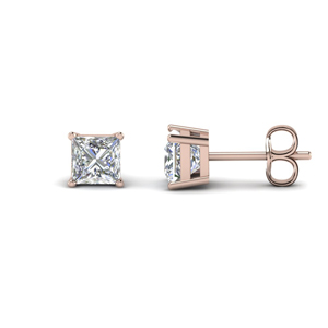 Rose Gold Diamond Stud Earring