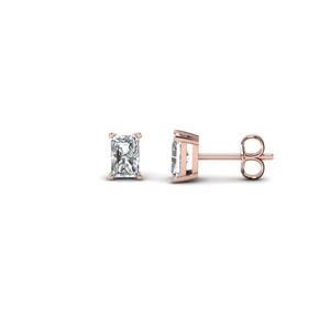 0.50 Ct. Radiant Diamond Stud Earring