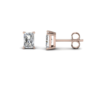 Rose Gold Radiant Stud Earring