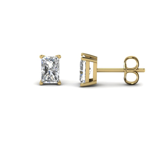 Gold 2 Carat Diamond Stud Earring