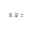 5 prong heart diamond stud earrings in 14K white gold FDEAR5HT NL WG