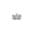 5 prong heart diamond stud earrings in 14K white gold FDEAR5HTANGLE1 NL WG