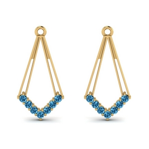 Topaz Dangle Earring Jacket