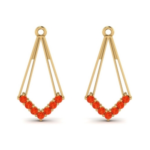 Dangle Orange Topaz Earring Jacket