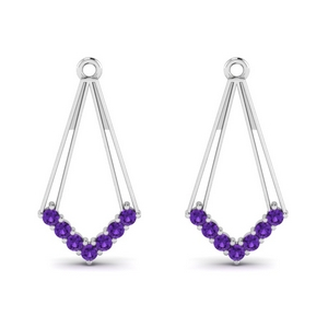 Purple Topaz Earring Enhancer
