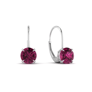 Leverback Pink Sapphire Earring