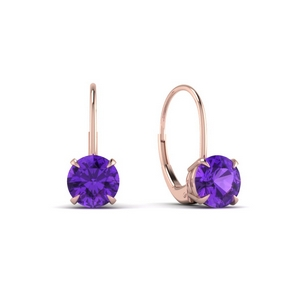Purple Topaz Hoop Earring