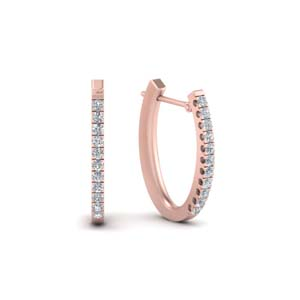 14K Rose Gold Diamond Earring