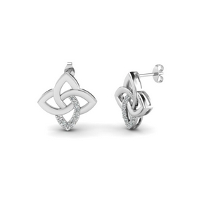 Floral Irish Design Diamond Earring