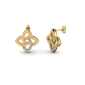 18K Gold Diamond Stud Earring
