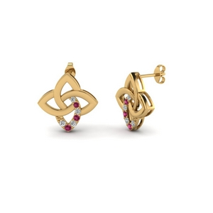 Gold Love Knot Earring