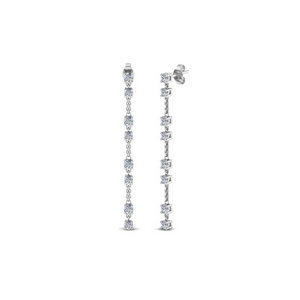 Long Drop Diamond Earring