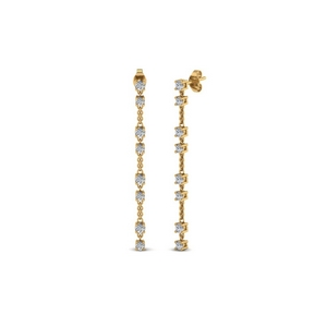 Diamond Long Drop Earring