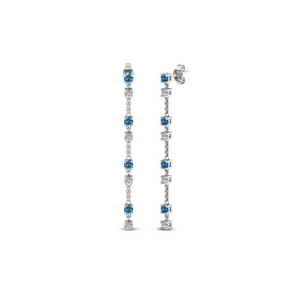 Topaz Long Drop Diamond Earring