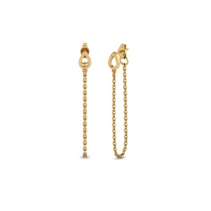 Chain Yellow Gold Drop Earring