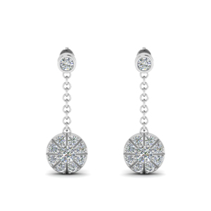 Hanging Drop Diamond Earring