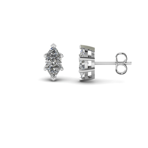 Marquise Single Stud Earring