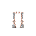 5 stone drop round diamond earring in 14K rose gold FDEAR8108ANGLE1 NL RG