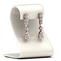 5 stone drop round diamond earring in 14K rose gold FDEAR8108STAND NL RG