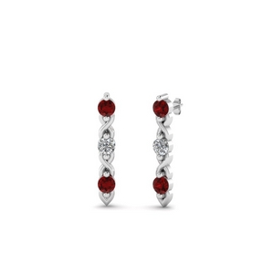 Beautiful Stud Earring With Ruby