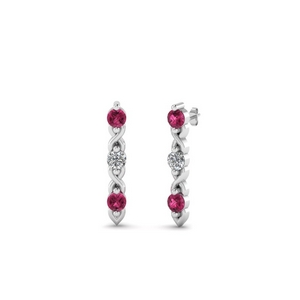 3 Stone Twist Earring