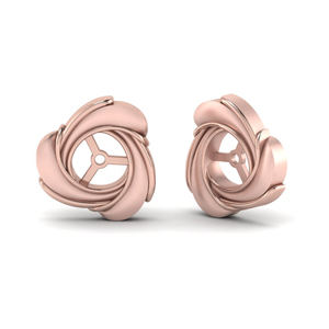 Knot Rose Gold Ear Jackets