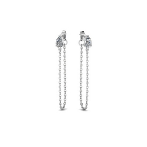 Chain Diamond Stud Earring