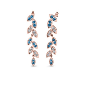 Leaf Drop Topaz Earring