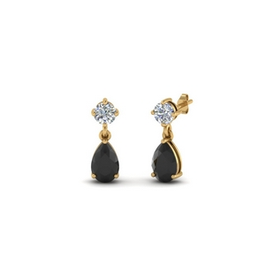 Black Diamond Teardrop Earring